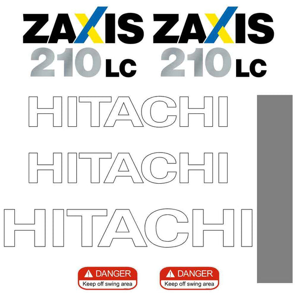 Hitachi ZX210LC-3 Decals Stickers