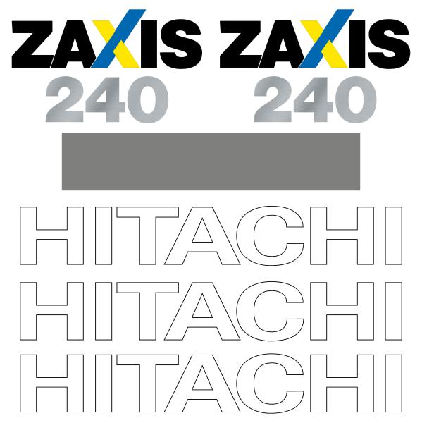 Hitachi ZX240-3 Decals