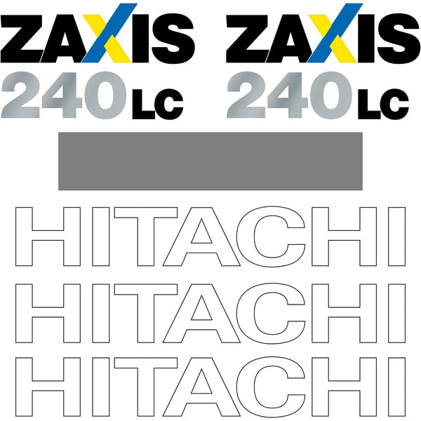 Hitachi ZX240 LC-3 Decals Sticker Kit