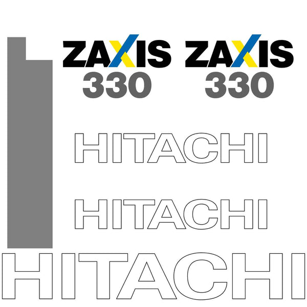 Hitachi ZX330-3 Decals