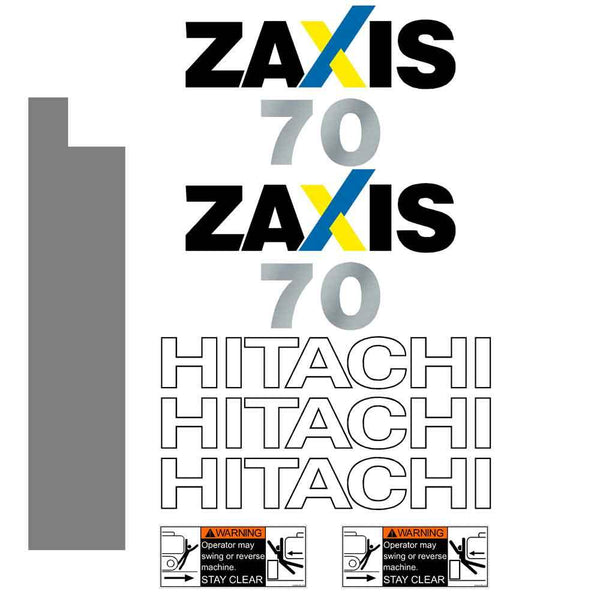 Hitachi ZX70 Decal Sticker Set
