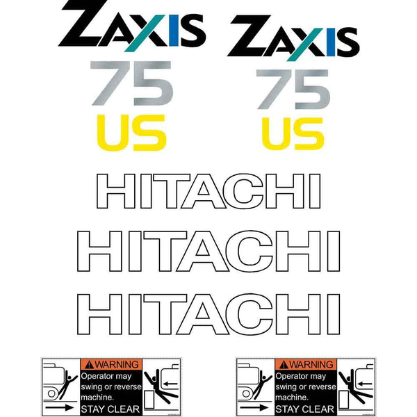 Hitachi ZX75US A Decals