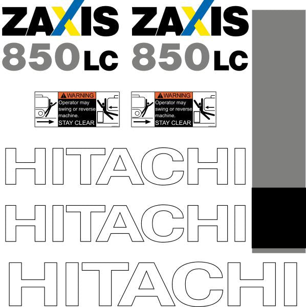 Hitachi ZX850LC-3 Decals