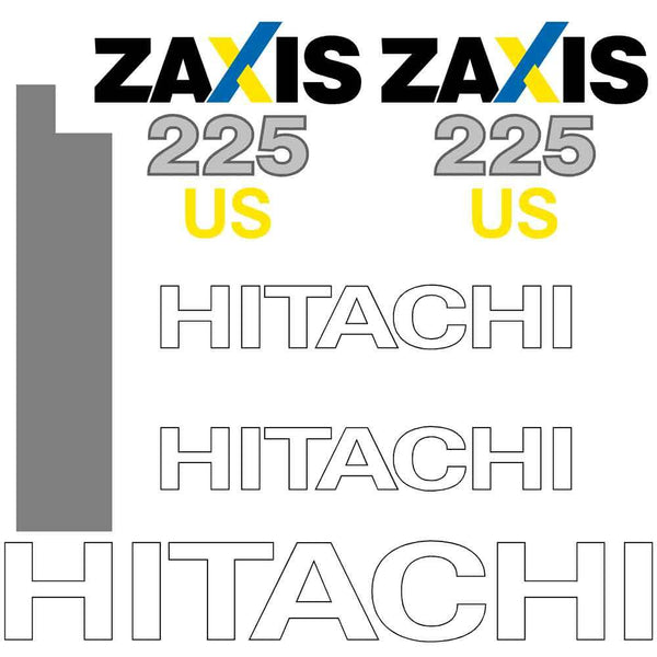 Hitachi ZX225US-3 LC Decal Sticker Set