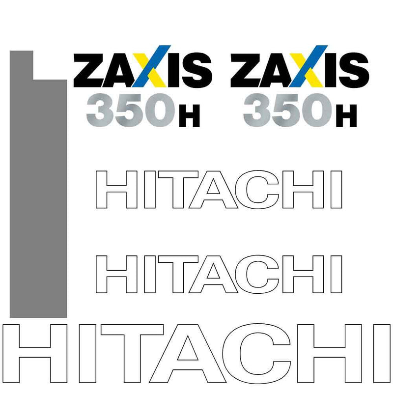 Hitachi ZX350H-3 Decal Sticker Set