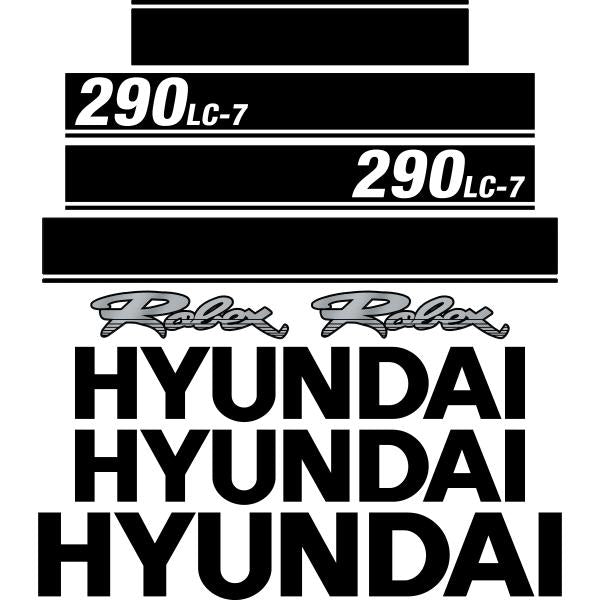 Hyundai 290LC-7 Decals Stickers
