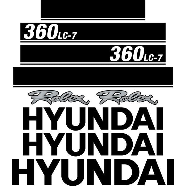 Hyundai 360LC-7 Decals Stickers