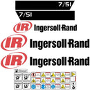 Ingersoll Rand IR 7/51 Compressor Decals Stickers