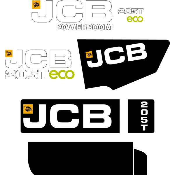 JCB 205T ECO Decals