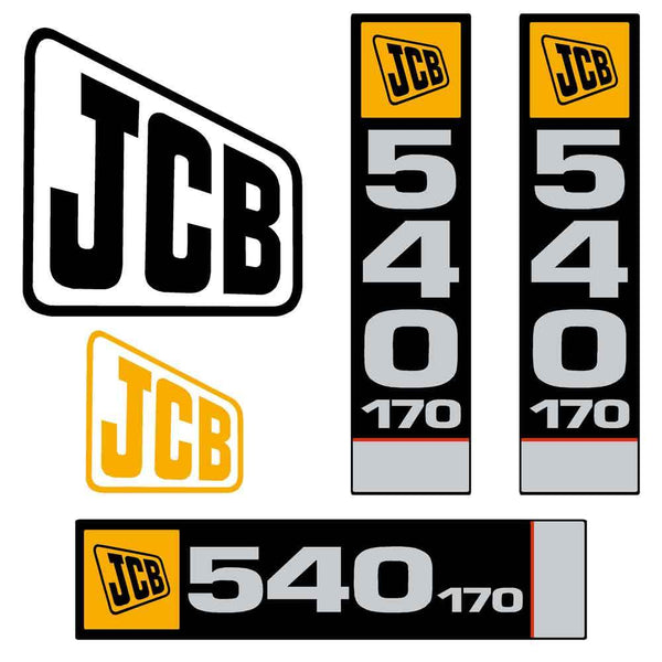 JCB 540-170 Decals Stickers Set