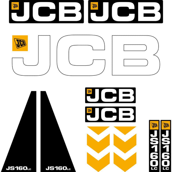 JCB JS160 LC Decals
