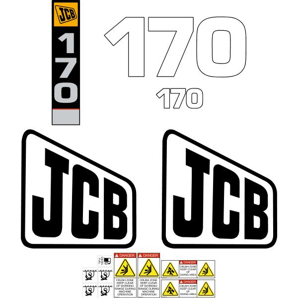 JCB 170 Decals Sticker Set