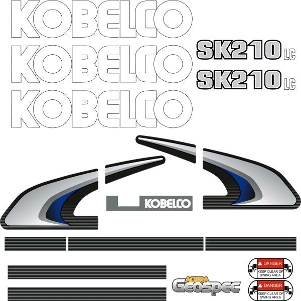 Kobelco SK210LC-8 Decals Stickers Kit