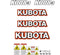 Kubota K008-3 Decals