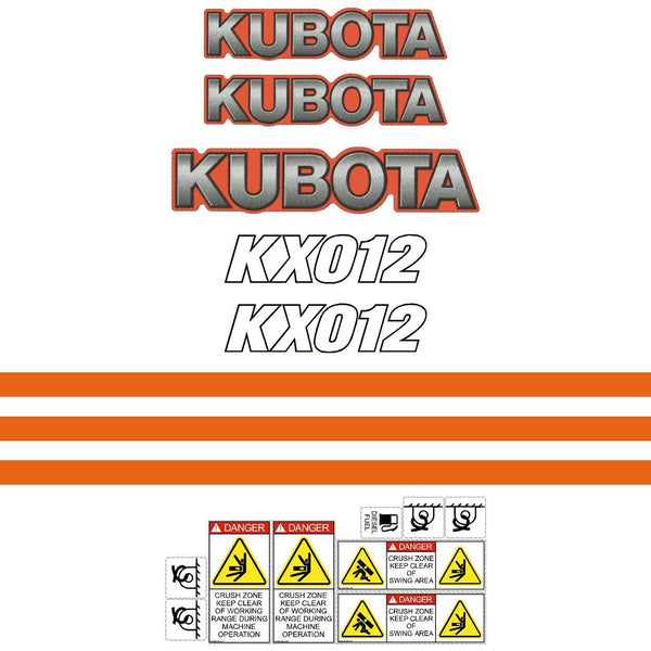 Kubota KX012 Decals