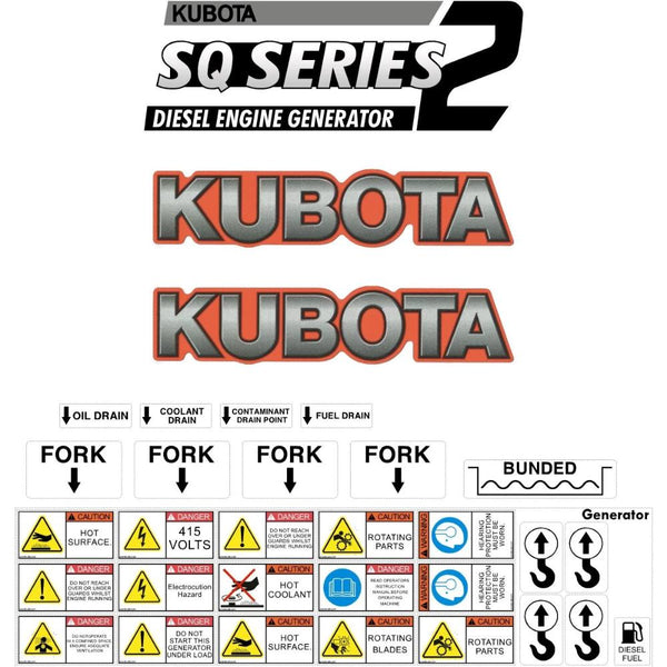Kubota SQ1120 Decals