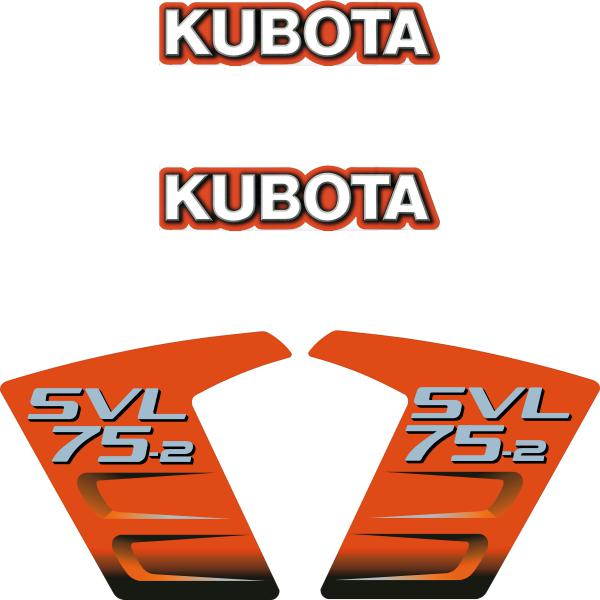 Kubota SVL75-2 Decals Stickers