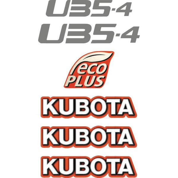 Kubota U35-4 Decals