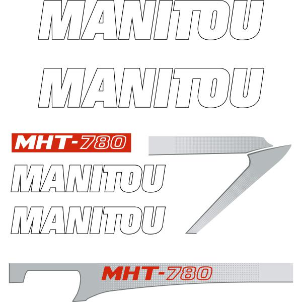Manitou MHT-780 Decals