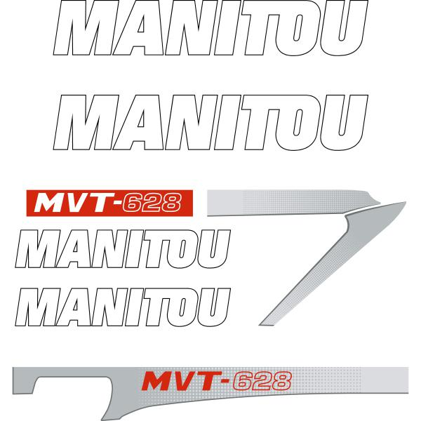 Manitou MVT-628 Decals