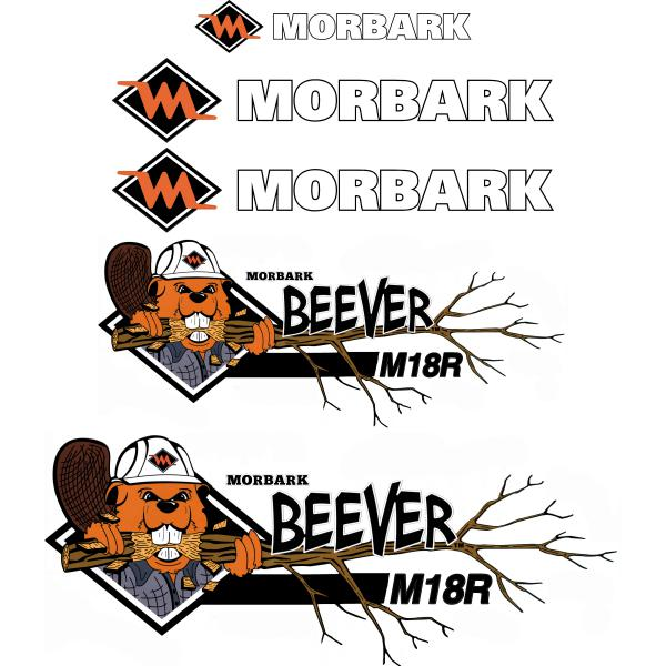 Morbark Beever M18R Decals