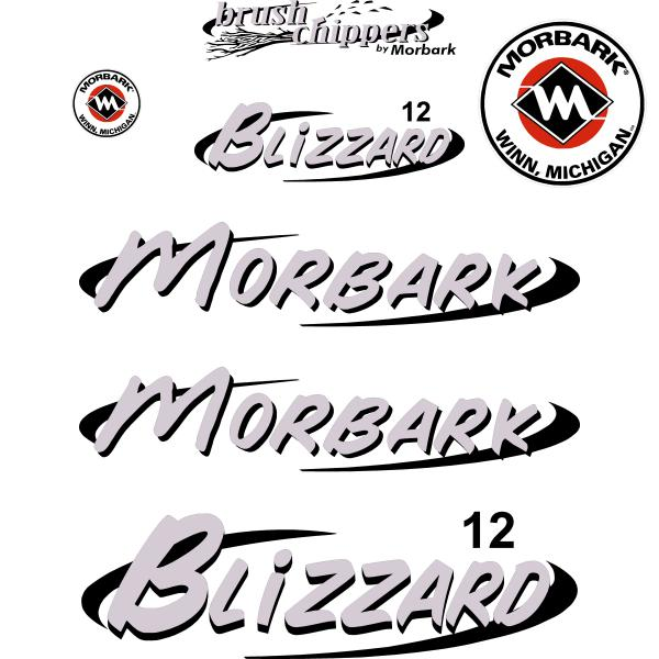 Morbark Blizzard 12 Decals