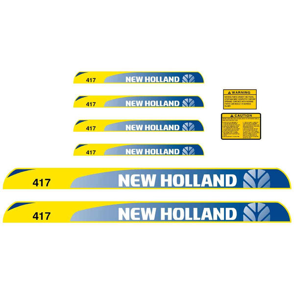 New Holland 417 Decals Stickers