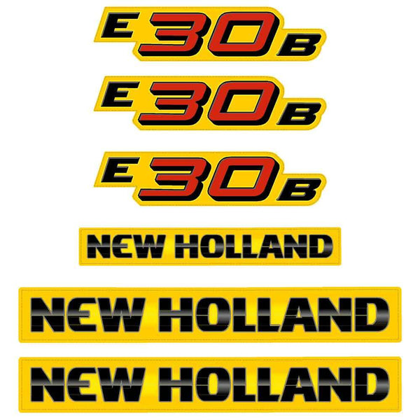 New Holland E30B Decal Set
