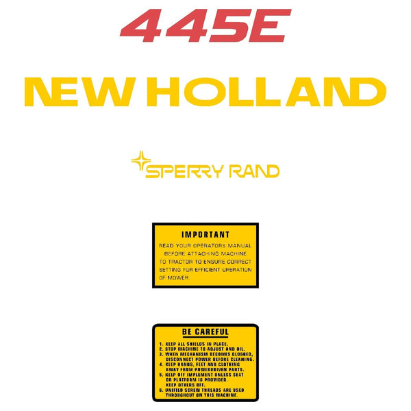 New Holland 445E Decals Stickers