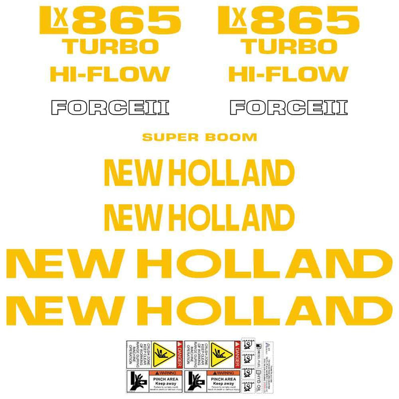 New Holland LX865 Decals Stickers