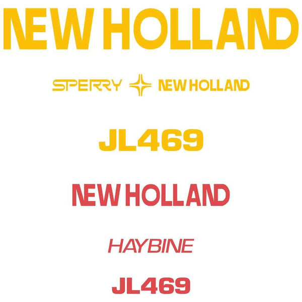 New Holland Haybine JL469 Decal Set