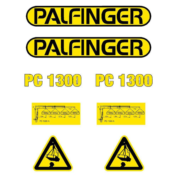 Palfinger PC1300 Decals Stickers Kit