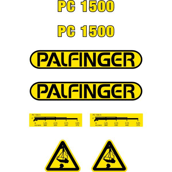 Palfinger PC1500 Decals