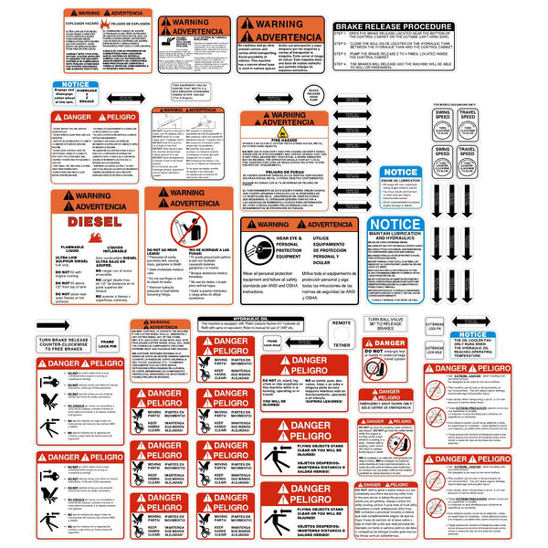 Stump Grinder Safety Decals