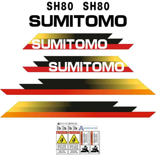 Sumitomo SH80-3 Decals Stickers