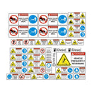 Tipper Truck Dump Body Safety Decal Kit