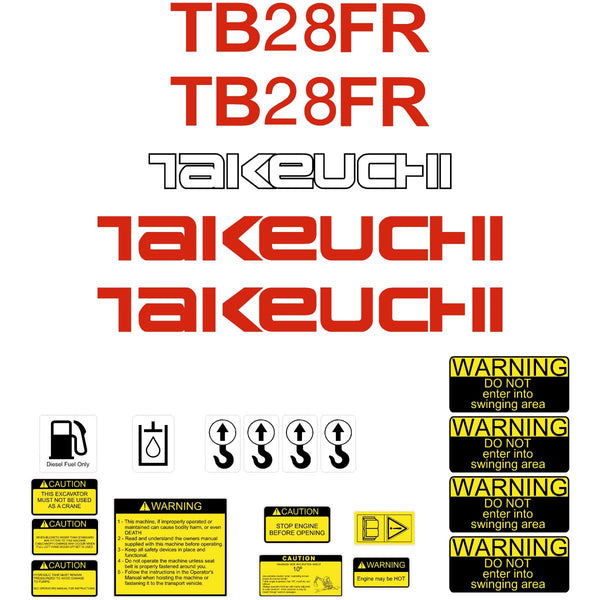 Takeuchi TB28FR Decals