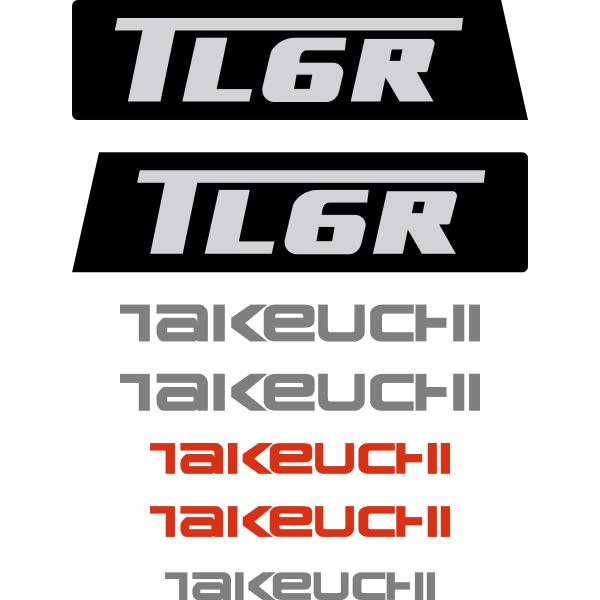 Takeuchi TL6R Decals