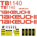 Takeuchi TB1140 Decal Sticker Kit