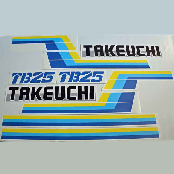 Takeuchi TB25 Decal Sticker Kit