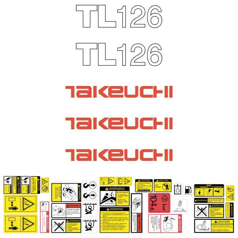 Takeuchi TL126 Decal Sticker Kit