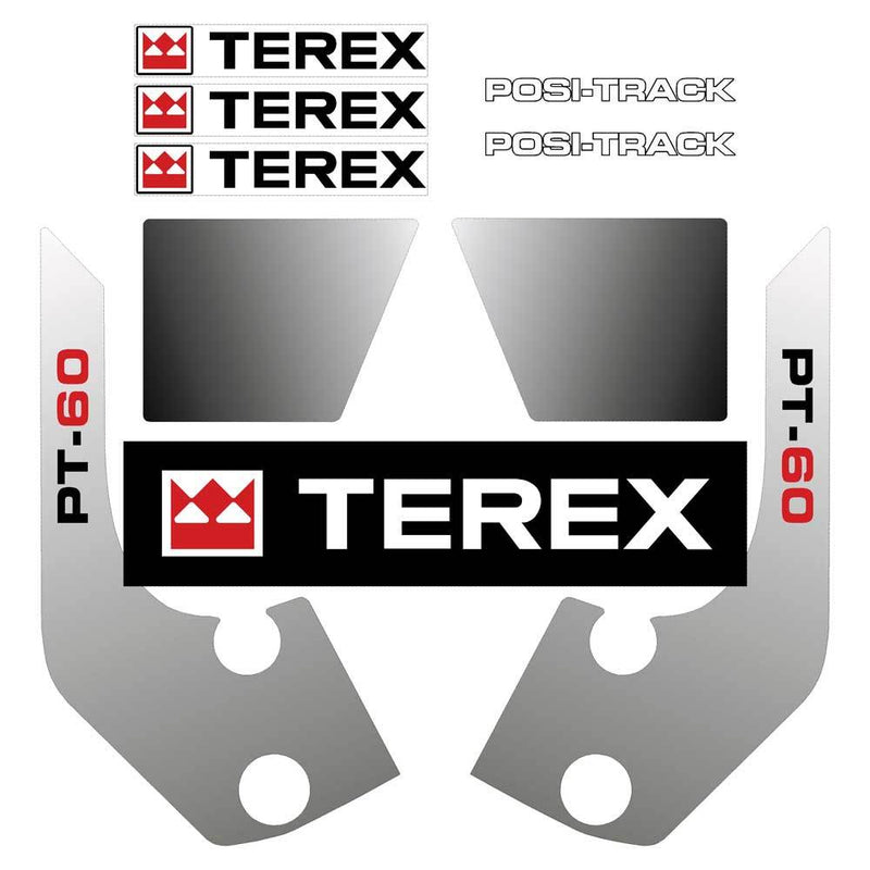 Terex PT60 Decals Stickers Kit