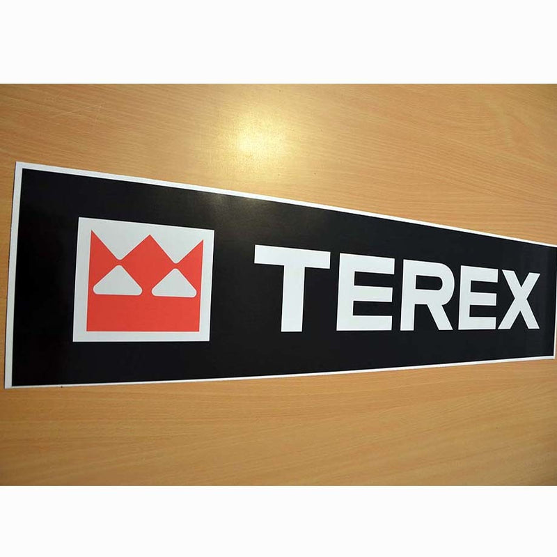 Terex PT30 Front Arm Decal Sticker