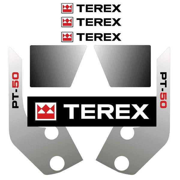 Terex PT50 Decals Stickers Kit
