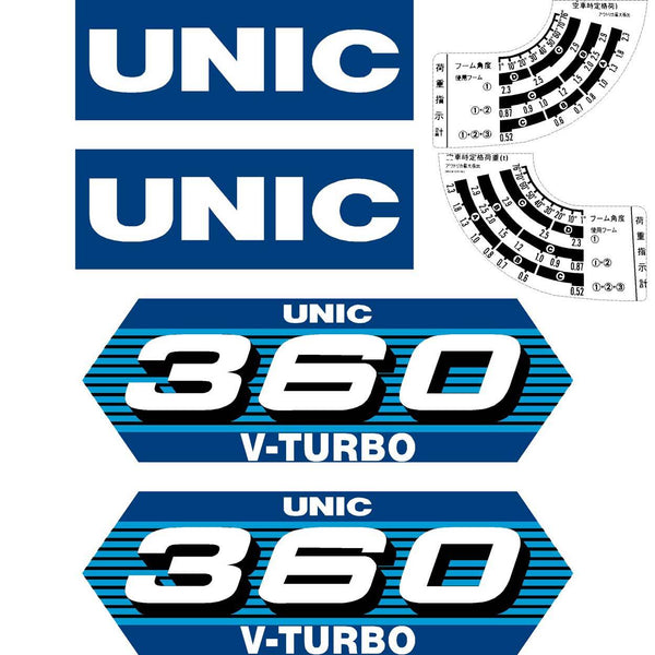 Unic 360V Turbo Decals