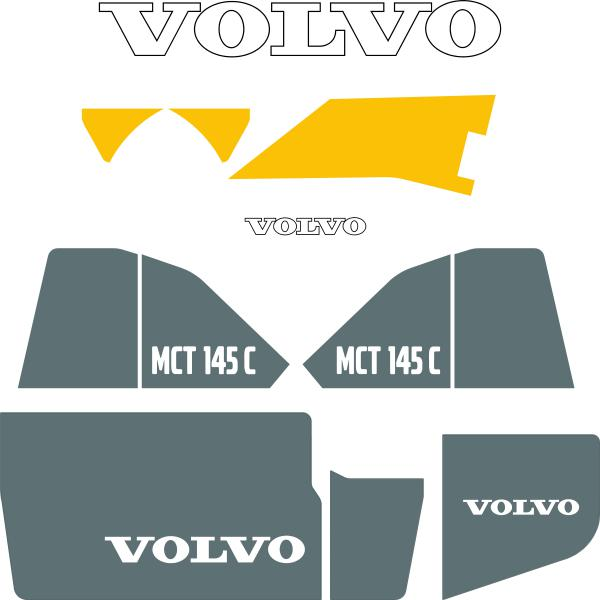 Volvo MCT145C Decals