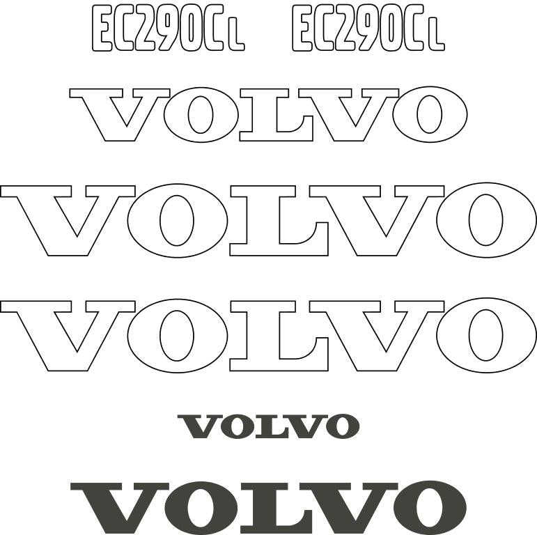 Volvo EC290CL Decals