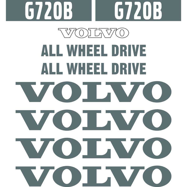 Volvo G720B Decals