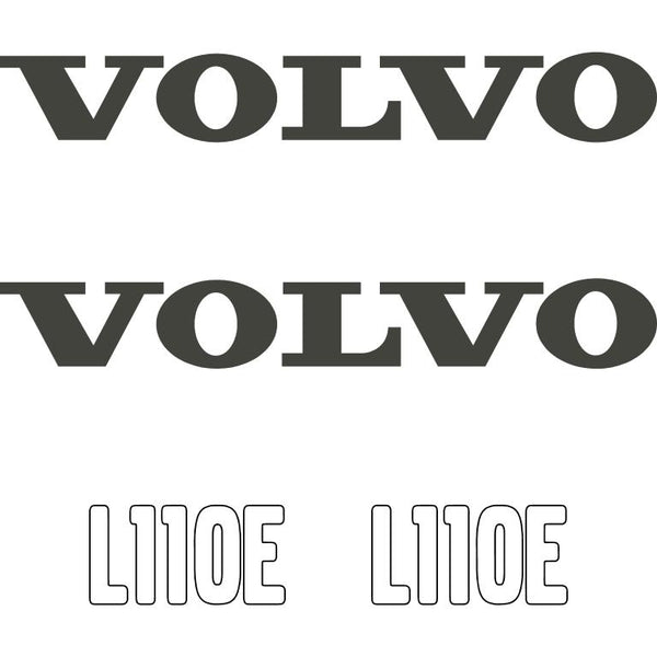 Volvo L110E Decals Stickers