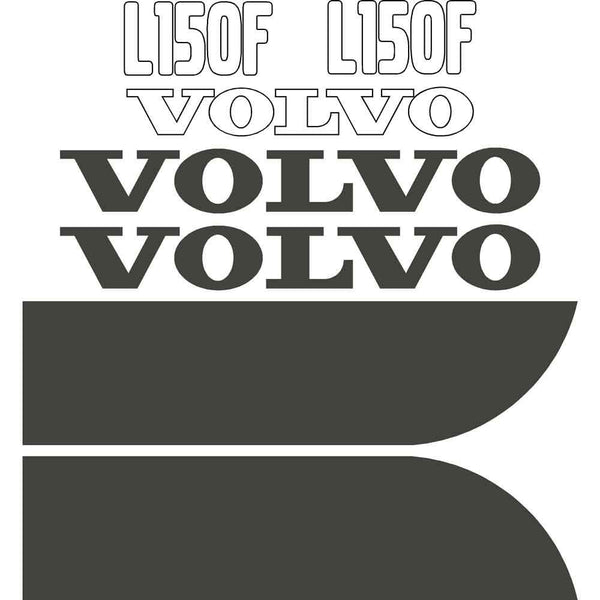 Volvo L150F Decals
